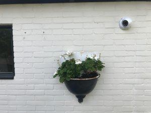 camera aan muur buiten