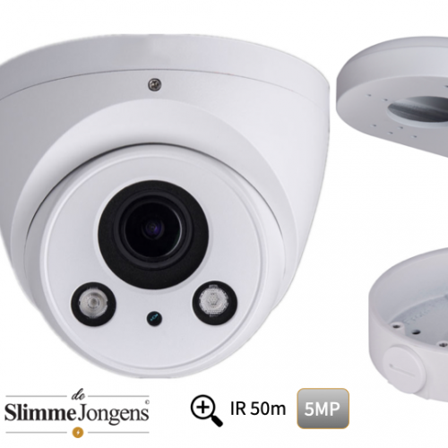 De Slimme Jongens 5MP IP varifocal camera wit