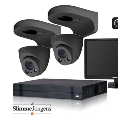 De Slimme Jongens set 4MP IP varifocal camera antraciet